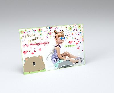 impresion para Tarjetas de cumpleaños - Let's party (210 x 139 mm)